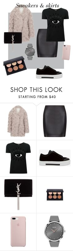"""""""Sneakers & skirts"""" by edenstathi ❤ liked on Polyvore featuring Maison Margiela, La Perla, Kenzo, Alexander McQueen, Yves Saint Laurent, BOSS Black, kenzo and fashionset"""