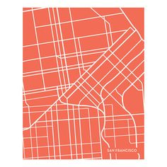 San Francisco Coral 16x20 now featured on Fab.