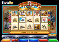 Make your rewarding 80-days-around-the-world travel in the Around the World free slot! Famous characters of the Jules Verne's book are present in this 5-reel, 20-payline slot from @microgaming  company. Useful Scatter, Wilds, and Bonus symbols will make your travel unforgettable and full of the multiplier and cash wins. Join Phileas and Passepartout in the Around the World slot at www.SlotsUp.com