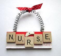 Nurse Scrabble Tile Ornament by ScrabbleTileOrnament on Etsy