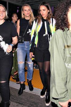 Jessica Alba wearing Stella McCartney Britt Platform Derby Shoes