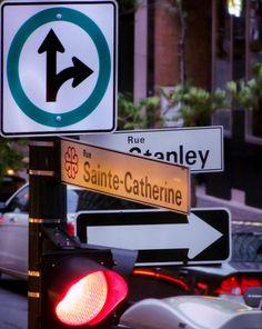 Rue Sainte-Catherine in Montreal, QC