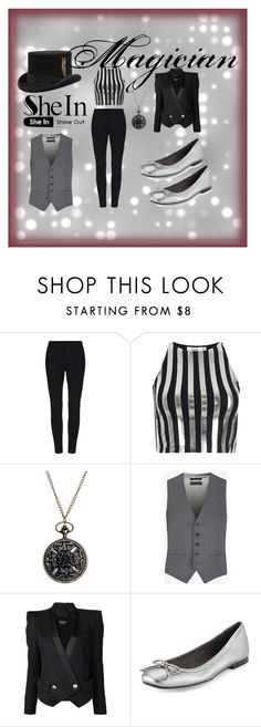 """""""magician"""" by nataliasheridan on Polyvore featuring Bundy & Webster, Ted Baker, Balmain, Stuart Weitzman, women's clothing, women's fashion, women, female, woman and misses"""