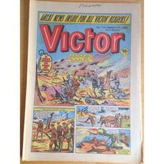 Victor #1101 Comic UK March 1982 Football Sport Action Adventure War