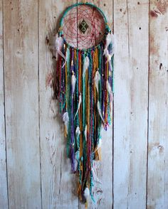 Large Dream Catcher Boho Dreamcatcher Wall by VagaBoundPeople