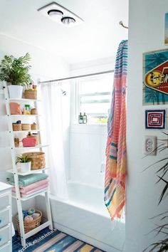 If you have a couple feet of unused floor space, harness its vertical potential with a shelving ladder.