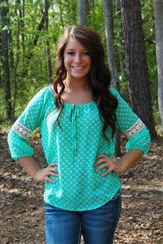 Cute blue shirt