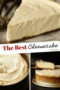This Easy Recipe Makes The Best Classic Cheesecake Ever! This beginner friendly classic cheesecake recipe makes perfect cheesecake every time! It doesn't get much better than creamy, smooth cheesecake baked in a homemade graham cracker crust. Pumpkin Cheesecake Recipes, Best Cheesecake, Homemade Cheesecake, Classic Cheesecake, Simple Cheesecake Recipe, Biscoff Cheesecake, Homemade Snickers, Cupcakes, Cupcake Cakes