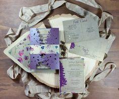 Elegant Woodland Wedding Invitation rustic wedding by TheFindSac
