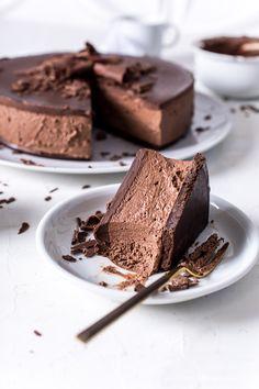 Chocolate Cheesecake ohne Backen. Der beste Schokokäsekuchen, der je meine Küche verlassen hat (und da gab es schon viele...)! Zum Rezept: