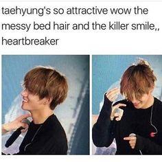 He just kills me over and over again 😫😍 Taehyung, V, BTS Got7, Yugyeom, Bts Memes, Kim Namjoon, Kim Taehyung, Bts Boys, Bts Bangtan Boy, Bts Jimin, Jaebum