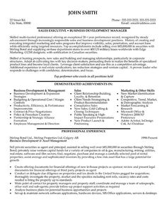 marketing sales executive resume example executive resume and - Banking Sales Resume