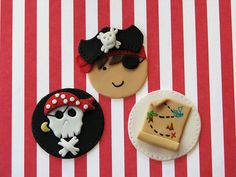 Argh! Pirate Cupcake Toppers by Lynlee's Petite Cakes, via Flickr