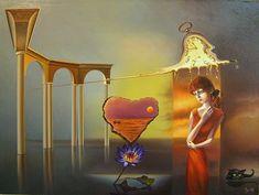 Gyuri Lohmuller, oil paintings by Gyuri Lohmuller, surrealistic paintings, surrealists artists