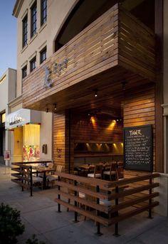 Outdoor Cafe Design Ideas – Cafe Interior and Exterior Restaurant Exterior Design, Small Restaurant Design, Decoration Restaurant, Deco Restaurant, Cafe Interior Design, Restaurant Facade, Small Cafe Design, Restaurant Entrance, Restaurant Plan