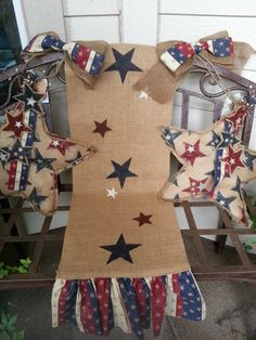 Patriotic Burlap Table Runner by TheElegantClutter on Etsy, $49.00