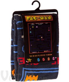 I need this to keep me warm during these cold Chicago nights! (Pac-Man Fleece Blanket)