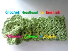 "Crochet in ENGLISH Easy  Gorgeous Headband Baby (all the sizes) ""Ykita"" ..."