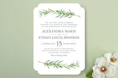 Simple Sprigs Wedding Invitations by Erin Deegan at minted.com A Favorite!!!!