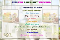 #Tips FOR A #healthy #weekend . Via: http://www.goego.in