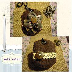 little handmade key chain ... with fabric felt