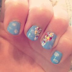 Disney UP Inspired - Nail Art Gallery