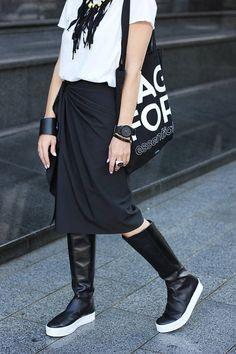 Black Skirt/Short Skirt/Party Skirt/Midi Skirt/Ruffle