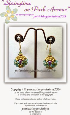Bead Mavens: Springtime on Park Avenue - a free earring tutorial