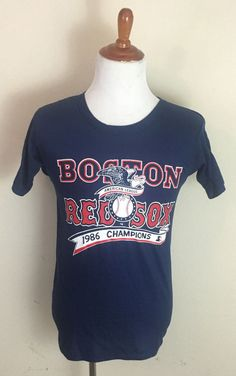 NEW Vintage Starter Boston Red Sox MLB 1986 AL Champions T-Shirt 80s Medium #Starter #BostonRedSox