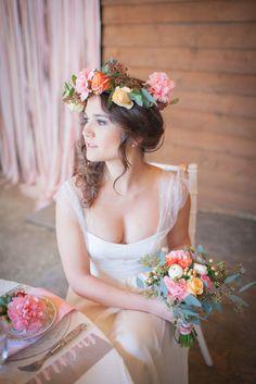 Rustic pink barn wedding ideas / Julie Siddi Photography