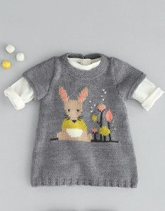 Modèle robe jacquard Knitting For Kids, Baby Knitting Patterns, Baby Winter, Baby Crafts, Toddler Fashion, Crochet Projects, Knit Crochet, Kids Outfits, Mens Tops