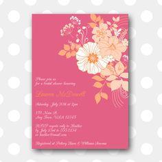 Printable Bridal Shower Invitation  Rainbow by inglishdigidesign, $10.00