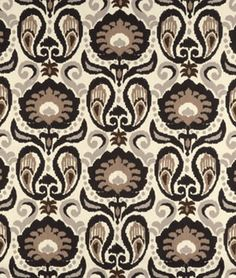 Golding Grand Ikat Charcoal Fabric (onlinefabricstore)