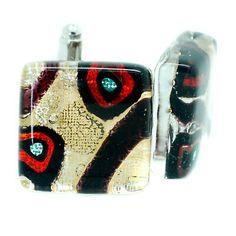Murano Cufflinks ▷ 5.5£ | Dealsan Sterling Silver Cufflinks, Murano Glass, Flask
