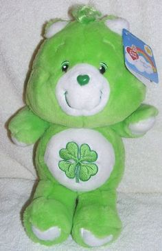 Stuffed Animal: 2002 Care Bears 20th Anniversary 13 Plush Good Luck Bear  Retro Look ** Check this awesome product by going to the link at the image.