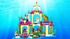 ♥ Dive right into an incredible underwater adventure with Ariel, her sister Alana and her friends Sebastian and Flounder! Help Ariel and Alana get ready for . Enchanted Castle, Lego Disney Princess, Ice Castles, Lego Toys, Sparkling Ice, Stop Motion, The Little Mermaid, Kids Toys, Palace