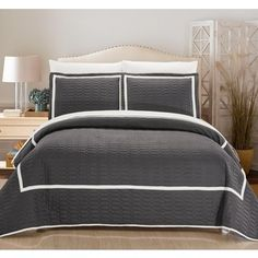 Shop for Chic Home 3-Piece Marla Grey Hotel Collection Quilt Set. Get free shipping at Overstock.com - Your Online Fashion Bedding Outlet Store! Get 5% in rewards with Club O!