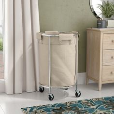 Project Tidy Commercial Round Laundry Hamper Laundry Hamper