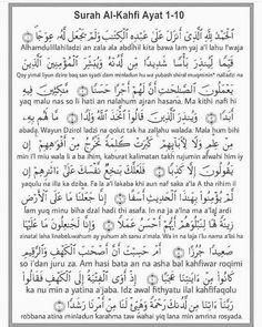 Surah al kahfi – Aarif Billah Pray Quotes, Quran Quotes Love, Quotes About God, Qoutes, Surah Al Quran, Surah Kahf, Hijrah Islam, Doa Islam, Islamic Inspirational Quotes