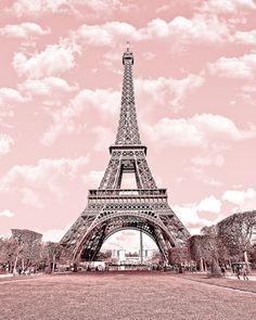 Buy 2 Get 1 Free Paris in Pink Eiffel Tower por ekaterinahashbarger