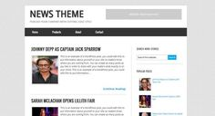 News Theme  Blogger Template