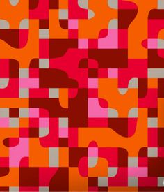 Warm Colours Geometric Pattern