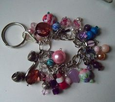 Beaded purse fob key chain purse fob by laidbackladies on Etsy, $18.00