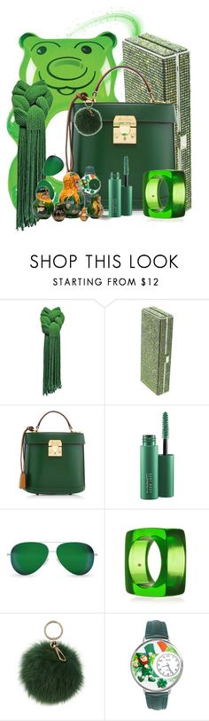 """Clover Love; Don't forget Green"" by abatevintage ❤ liked on Polyvore featuring BigMouth, Bibi, Richard Noura, Mark Cross, MAC Cosmetics, Victoria Beckham, Kenneth Jay Lane, Coccinelle, Whimsical Watches and vintage"