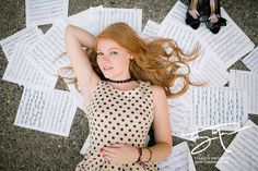 Senior Year ~ Being in Band this would be such a Unique and different Photo for a Musician. Maybe just replace the shoes w/ a Clarinet an it would be PERFECT for a Senior Portrait (2015)! Very different, I LOVE!