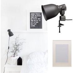 #myIKEAbedroom 1. RIBBA Houder voor schilderijen1. 2.HEKTAR Wand-/klemspot, donkergrijs 3.RIBBA Wissellijst.