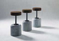 cork & steel bar stools, Design - Amorim Isolamentos