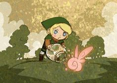 Hyrule Fairy Catching by theGorgonist