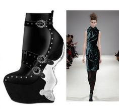 独家发售2013新款短靴子异型跟及裸马丁靴欧美复古高跟欧洲站必备-淘宝网