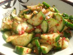 A Natural Kitchen: Korean Kitchen: Cucumber Kimchee Banchan Recipe